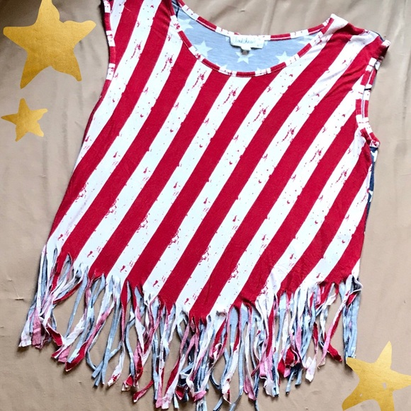 179f30ebd73f4d Cloud Chaser Tops - Cloud Chaser • Patriotic Fringe Top